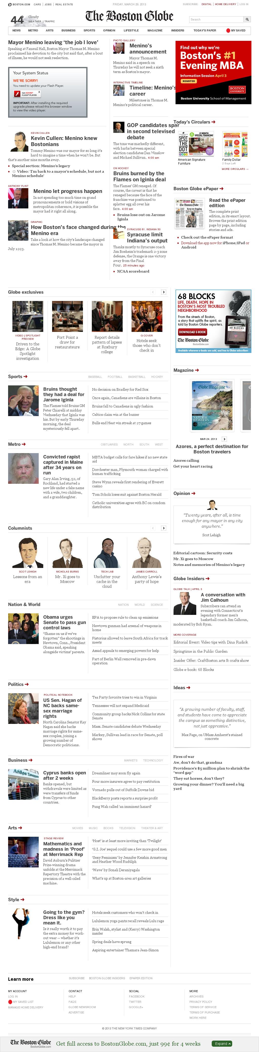 The Boston Globe at Friday March 29, 2013, 5:02 a.m. UTC