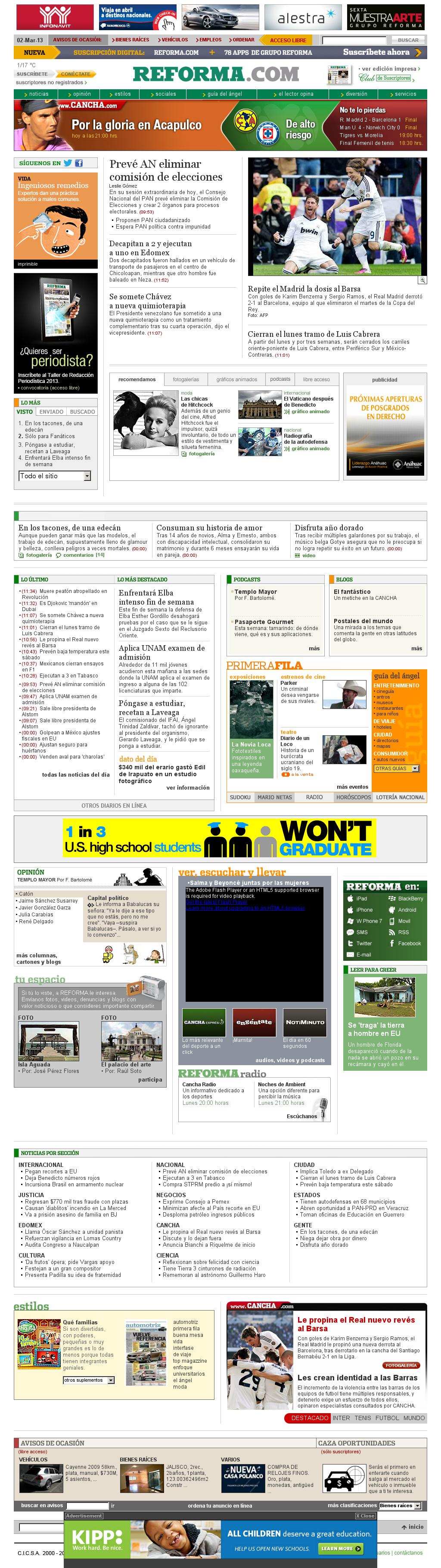 Reforma.com at Saturday March 2, 2013, 6:19 p.m. UTC