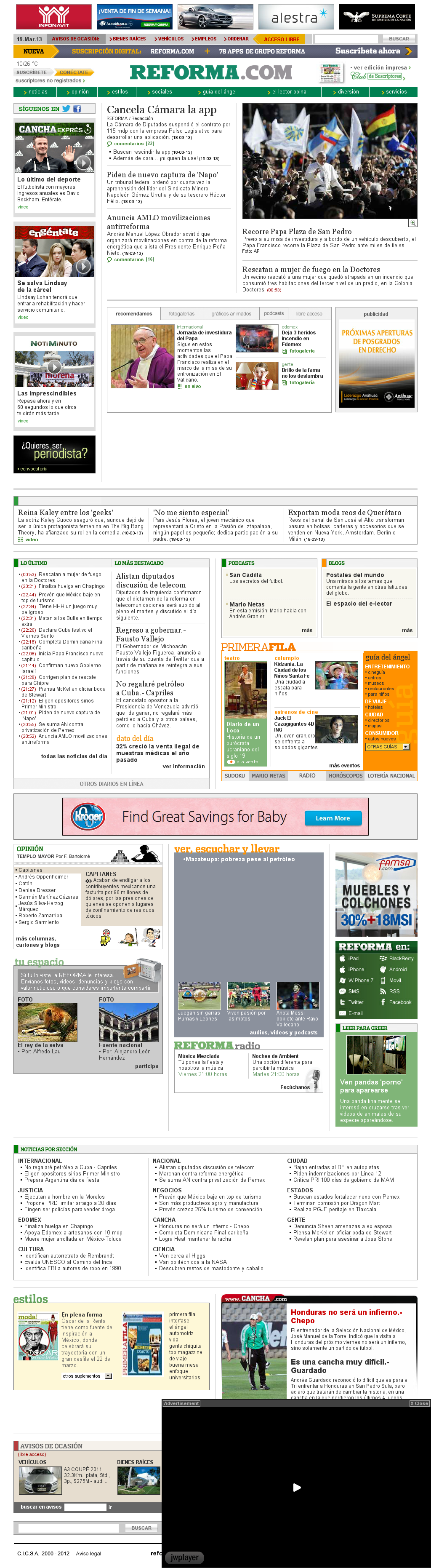Reforma.com at Tuesday March 19, 2013, 8:21 a.m. UTC