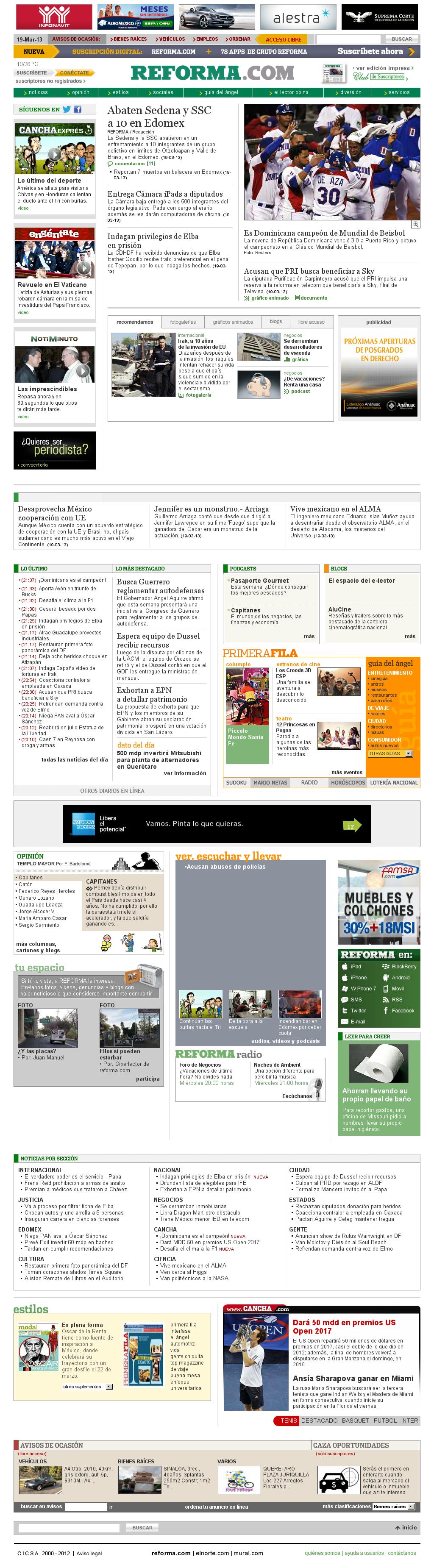 Reforma.com at Wednesday March 20, 2013, 4:25 a.m. UTC