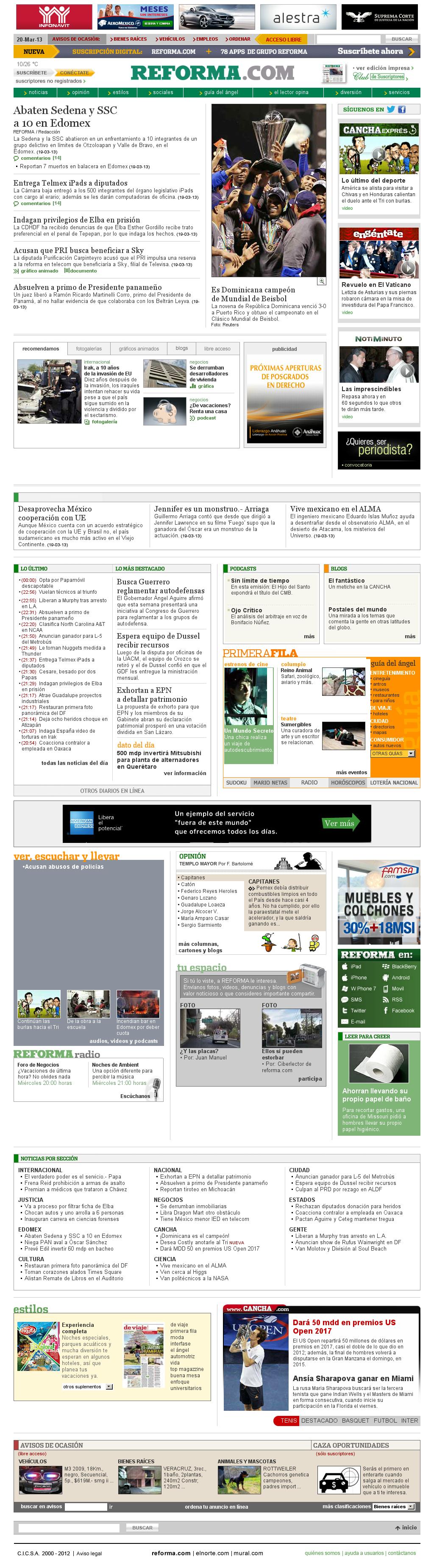 Reforma.com at Wednesday March 20, 2013, 7:22 a.m. UTC