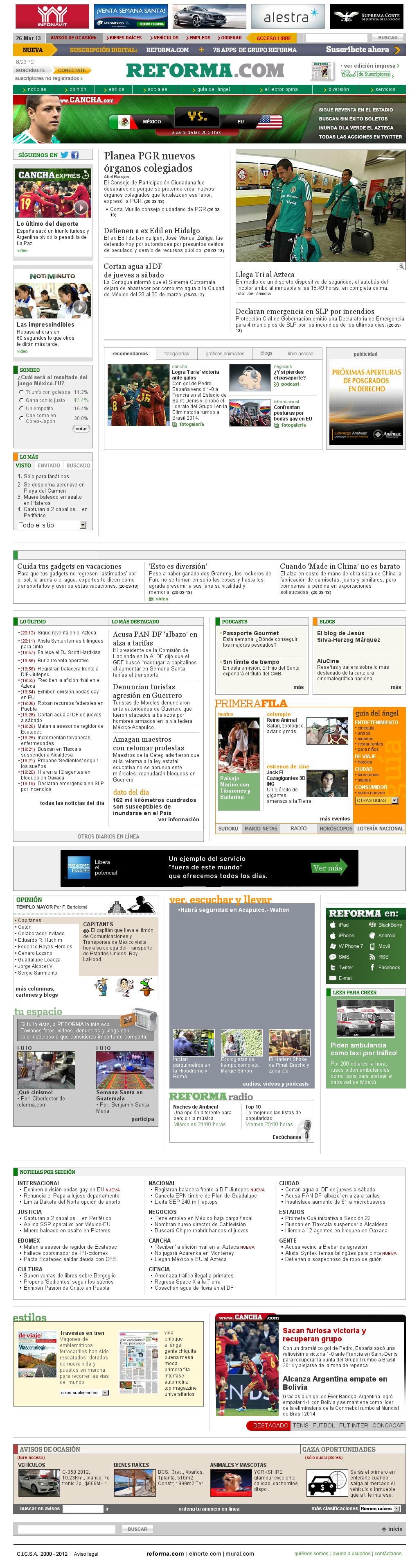Reforma.com at Wednesday March 27, 2013, 2:28 a.m. UTC