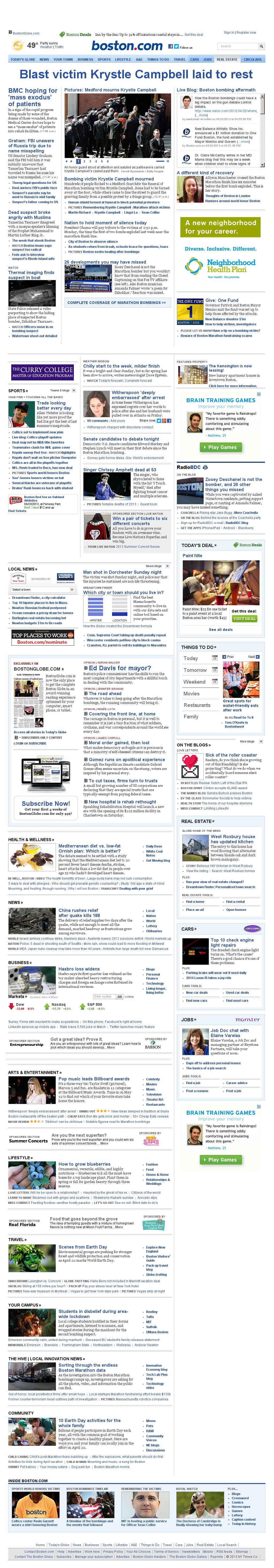 Boston.com at Monday April 22, 2013, 5:02 p.m. UTC