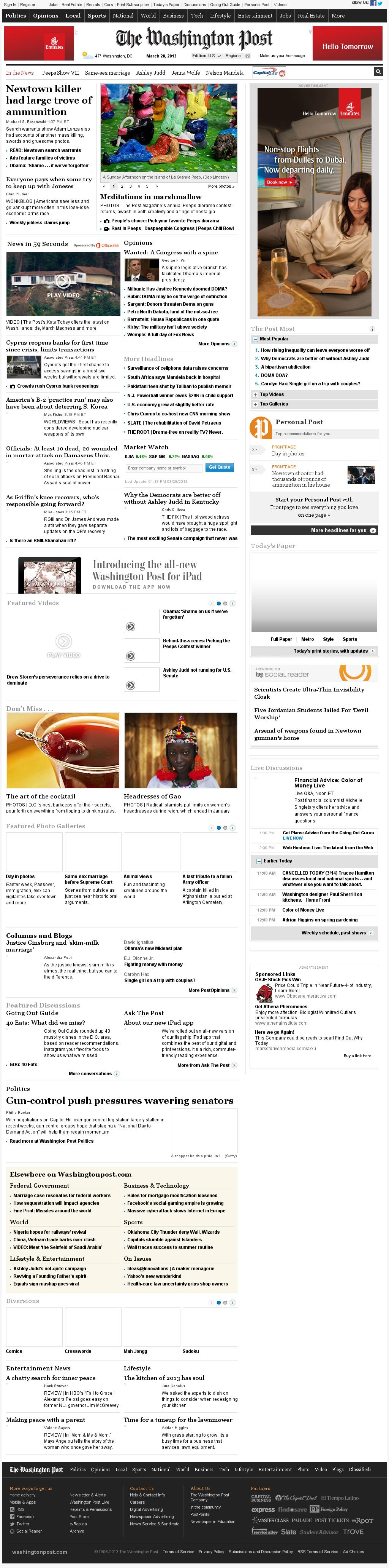The Washington Post at Thursday March 28, 2013, 5:24 p.m. UTC