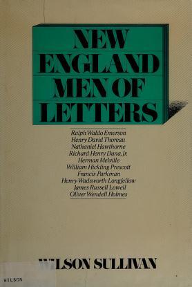 Cover of: New england men of letters | Wilson Sullivan