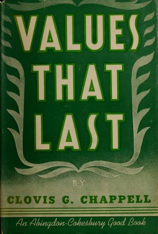 Cover of: Values that last | Clovis G. Chappell